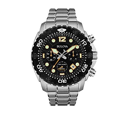 Bulova Men's Black Dial Chronograph Watch - 51S63CVJE2L - Bulova Men's Black Dial Chronograph Watch