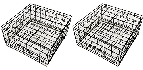 2-Pack of KUFA Vinyl Coated Crab Trap with 4 Single Way Entrance (Size: 24