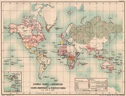 Europea colonias/dependencias. Mundo de 1815 – 1897. Siglo XIX – 1902 –