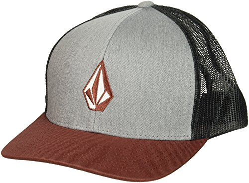 volcom-mens-full-stone-cheese-6-panel-flexfit-xfit-hat-dark-clay-o-s