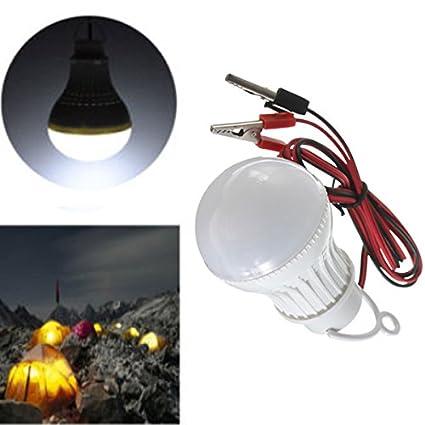 [Envio Gratis] E27 bombilla LED blanco 3 W 6 SMD 5730 alambre globo Solar lámpara de ...
