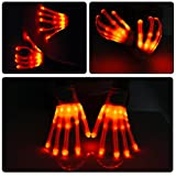 Vbiger LED Gloves Knit Gloves Party Light Show