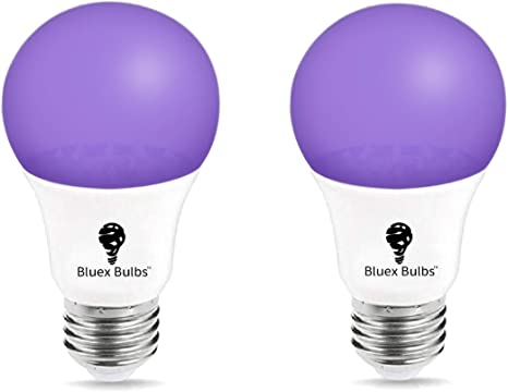 UV Ultraviolet 400nm Filament Style A19 LED Black Light Bulb 12... 7 Watts
