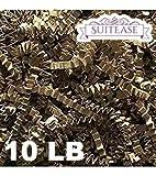 10 lb Natural Crinkle Cut Eco-Spring Fill, Filler for Packing Gift Baskets and Boxes~Box of 10 LB ~ Kraft Brown - Good Value Paper Shred Filler