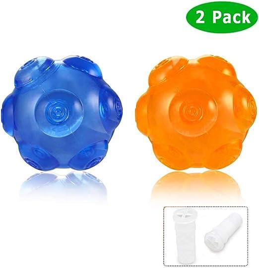 ACEONE Pelota Perro Impermeable Bola Inflable Goma Juguete de Goma, Squeaker Squeeze Pet Ball Juguetes, Interactiva para Perros Traning (2 Piezas): Amazon.es: Productos para mascotas