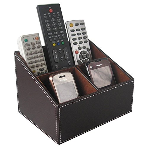 kingfomtm-3-compartment-pu-leather-desk-remote-controller-holder-organizer-home-sundries-storage-box