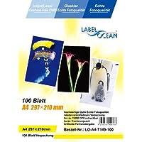 100 Blatt A4 Overheadfolie (OHP Transparentfolie Transparentpapier) für Inkjetdrucker, Inkjet, schwarz/weiss Laserdrucker und Farblaserducker, Tintenstrahldrucker, schwarz weiss Kopierer und Farbkopierer