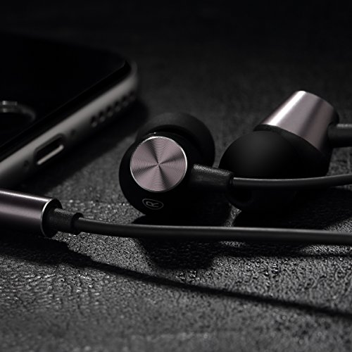 Earbuds With Microphone Rock Space Stereo Noise Cancelling Wired Headphones In Ear Earphones Compatible For All 3 5 Mm Audio Jack Device  Tarnish