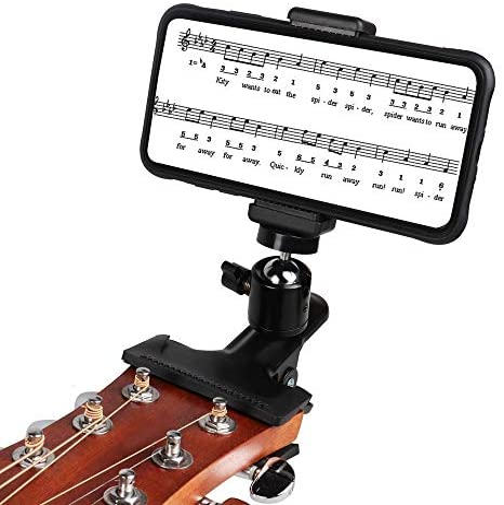 Mr.Power Guitar Bass Head Phone Holder Live Broadcast Bracket Clip for iPhone Samsung Smart Phones (Guitar Head Phone Holder)