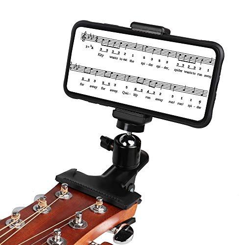 Soporte de teléfono con clip para cabeza de guitarra