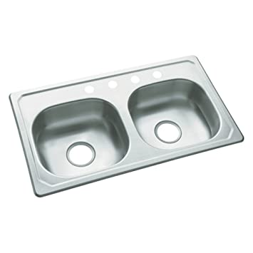 Charmant Southhaven 33u0026quot; X 19u0026quot; Self Rimming Double Bowl Kitchen Sink,  Drop In