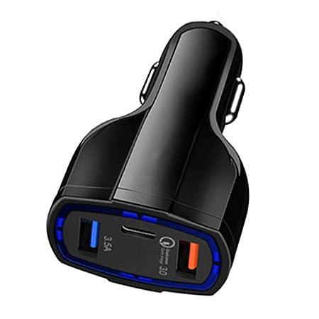 Tauser Mini Adaptador de Cargador de Coche Tipo USB de Carga ...