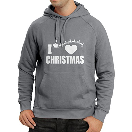 Hoodie I Love Christmas - Xmas Outfits, Santa and The Reindeers (XX-Large Graphite Multi Color)]()