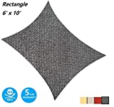 AsterOutdoor Sun Shade Sail Rectangle 6' x 10' UV