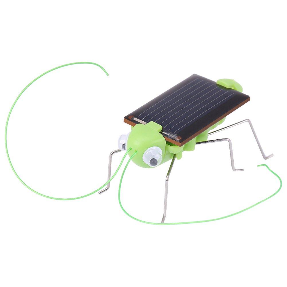 Zerodis Mini Solar Kakerlake/Grasshopper Solarenergie Kinder Trick Insekten Spielzeug Geschenke(#1)