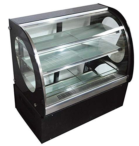 INTBUYING Countertop Cake Show case Commercial Refrigerated Pie Display Cabinet 220V ()