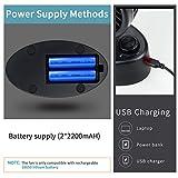 E-More Battery Operated Desk Fan, Mini USB Personal