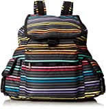 LeSportsac Voyager Nylon Bag, Lestripe Black,One Size