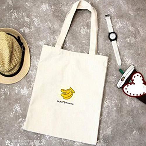 Hombro Mujer Grande Impresión Shopping De Bolsos Lienzo Tote Estilo Carrier Bag Solo Preppy J Frutas Lona Algodón Mensajero Serie Bolsas Capacidad Bulary qUaf0wFS