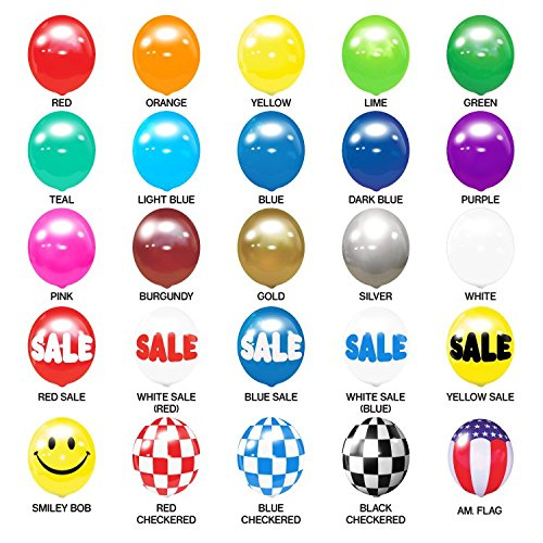 Balloon Bobber - Seamed Reusable Helium Free Replacement Balloons (5-Pack) - Plastic Outdoor Balloons]()