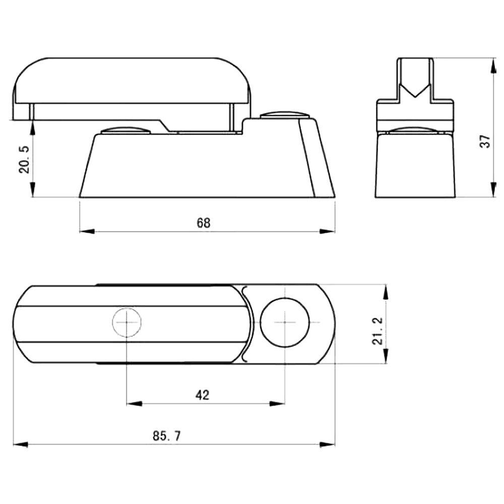 ebuybox/® 12x Fensterschloss Tuerschloss Fenstersicherung PVC Extra Sicherheit
