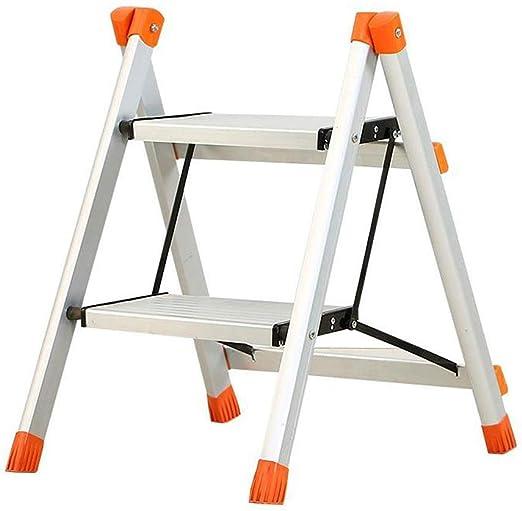 Escalera 2 Pasos, Taburete Paso De Aluminio, Escalera - Muy Compacto Una Vez Plegado - Robusto; Hasta 150 Kg De Carga: Amazon.es: Hogar