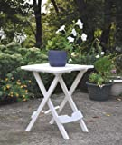Adams Manufacturing 8500-48-3700 Plastic Quik-Fold Side Table, White