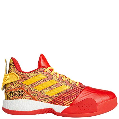 adidas Men's TMAC Millennium Basketball Shoe, Scarlet/Gold Metallic/red, 10 M US