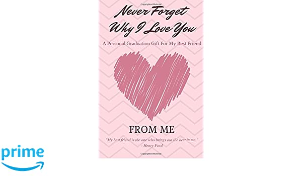 Never Forget Why I Love You - A Personal Graduation Gift For