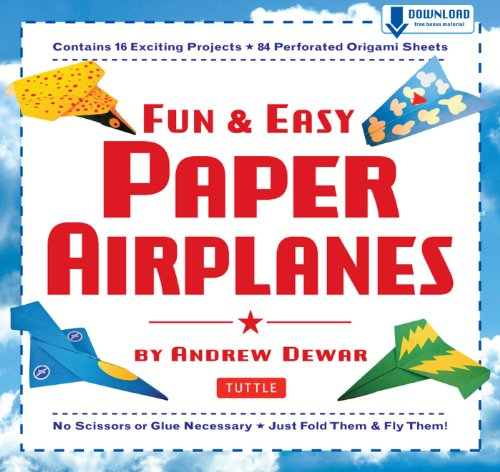 Fun & Easy as pie Paper Airplanes: This Easy Paper Airplanes Book Contains 16 Fun Projects, 84 Papers & Instruction Book: Great for Both Kids and Parents