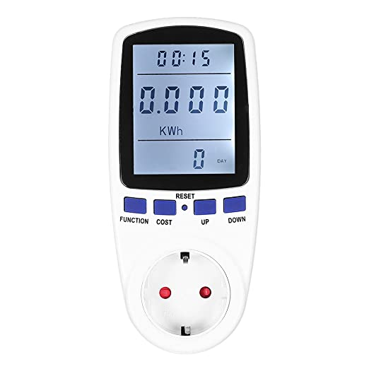 2 opinioni per KKmoon 230V Plug-in Power Meter (EU Plug)- Energia LCD Digital Meter Potenza