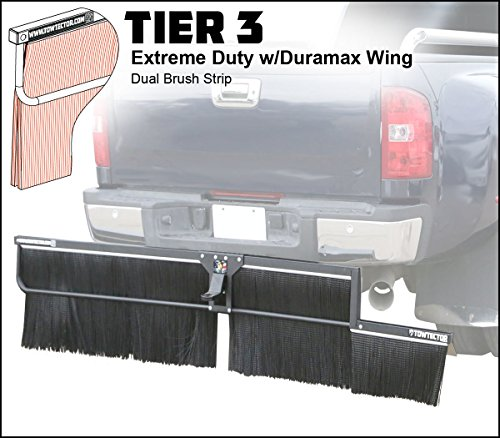 Towtector Tier 3 Mud Flap 29617-T3DM Extreme Duty Dual Brush Strip with Duramax Wing - 96