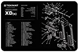 revolver parts - Ultimate Arms Gear Gunsmith & Armorer's Cleaning Work Tool Bench Gun Mat For Springfield Armory XDs XD S Pistol Handgun - Large Exploded View Schematics Diagram of Revolver and Parts List