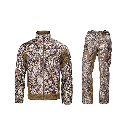 Badlands Rise Hunting Outfit (Approach Camo, M) with Jacket and Pants Bundle | Waterproof, Lightweight, Breathable, - Up Warm Jacket Approach