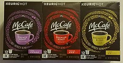 McCafe Coffee Keurig K-Cup Variety Pack (36-Count) [RETAIL PACKAGING]