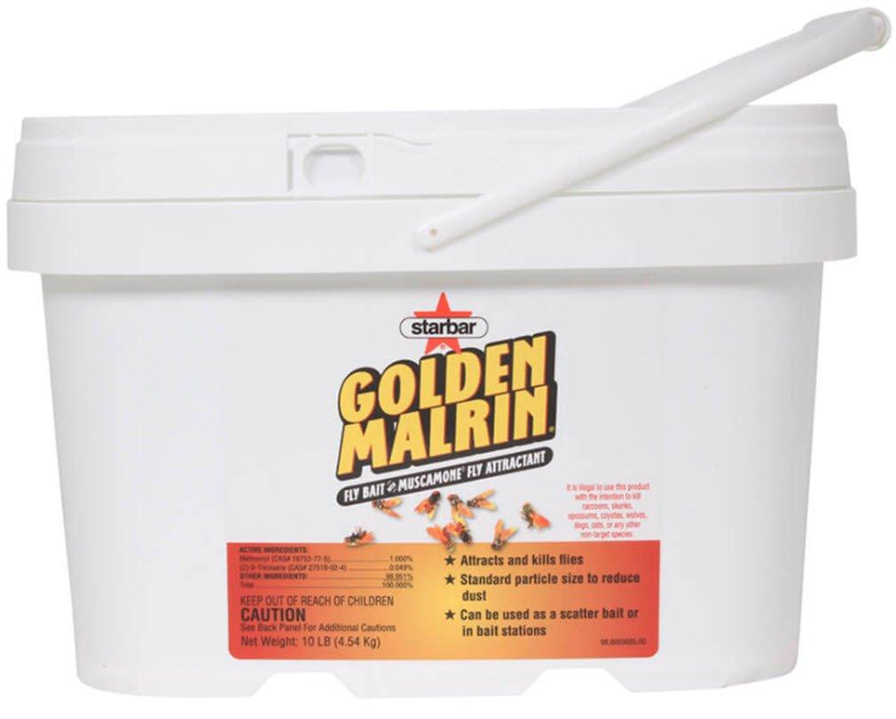 DPD STARBAR GOLDEN MALRIN FLY BAIT 10 LB, 20LB, 40LB. (10)
