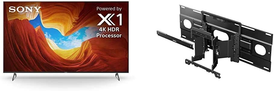 Sony X900H 55 Inch TV: 4K Ultra HD Smart LED TV with HDR and Alexa Compatibility - 2020 Model with SU-WL855 Ultra Slim Wall-Mount Bracket