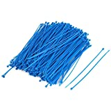 SODIAL(R) 1000pcs 3mmx150mm Nylon Self-Locking Electric Wire Cable Zip Ties Blue