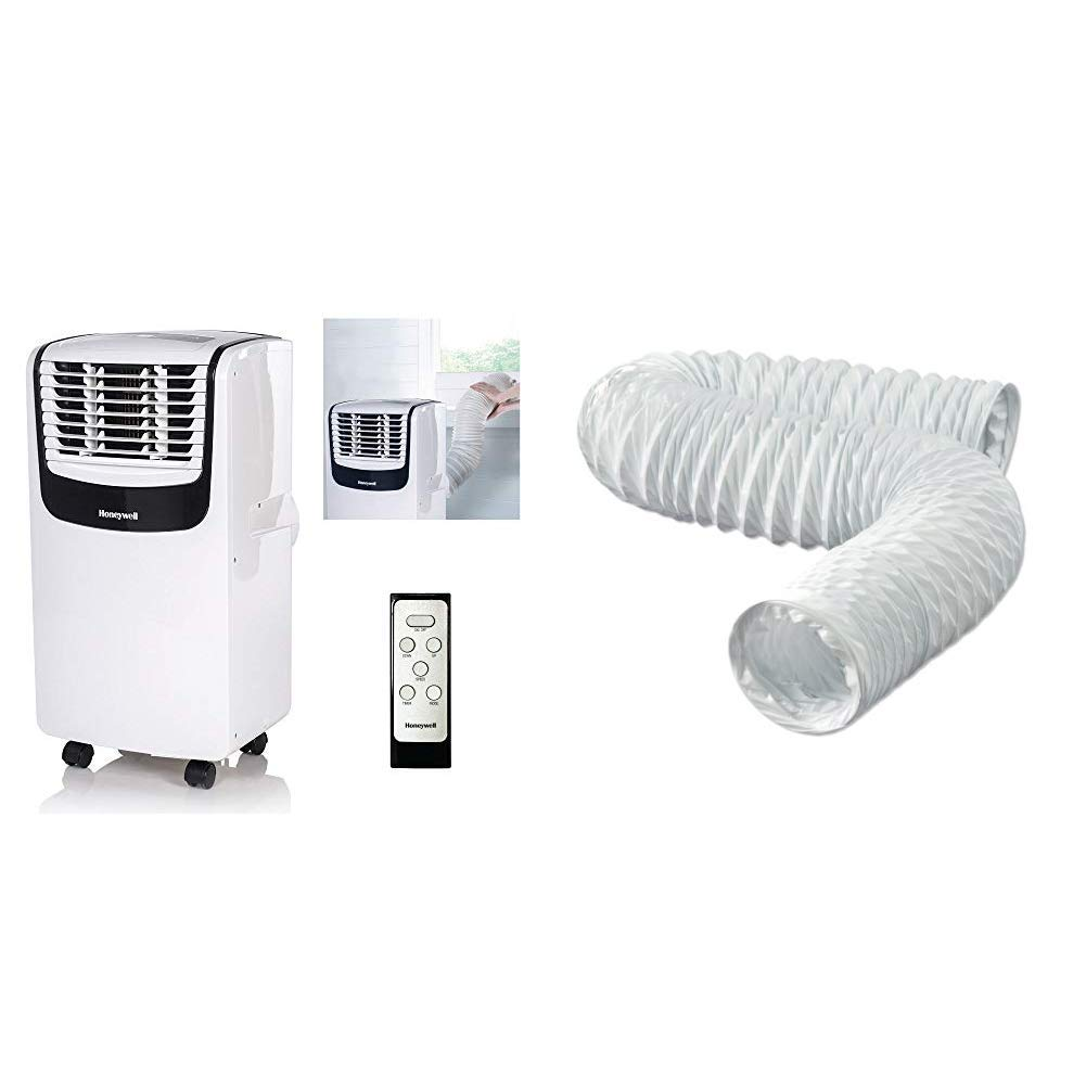 4\ x 20 Black//White /& Dundas Jafine FD420ZW Flexible White Vinyl Duct With Remote Control 4-Inches by 20-Feet Honeywell MO08CESWK Compact Portable Air Conditioner with Dehumidifier and Fan