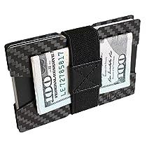 FIDELO Carbon Fiber Minimalist Wallet - Slim Front Pocket credit card holder Money Clip