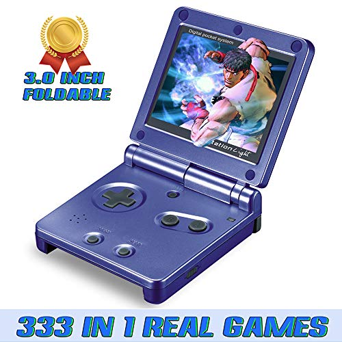 Ruihoxin Handheld Game Console, 333 Classic Games 3.0 inch HD LCD Screen Portable Video Game, Retro Game Console can be Played on TV, Best Gift for Children and Adults, Gifts. (Blue) (Lcd Handheld Game)
