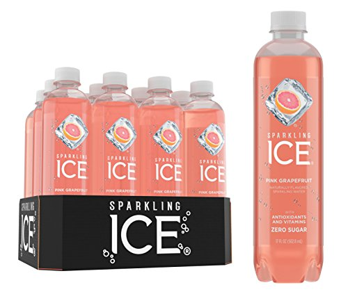 Sparkling Ice Pink Grapefruit Sparkling Water, with Antioxidants and Vitamins, Zero Sugar, 17  Fl. Oz Bottles (Pack of 12)