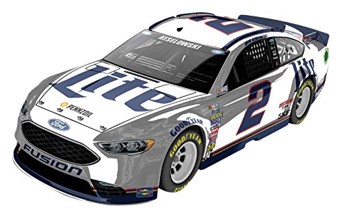 Lionel Racing Brad Keselowski #2 Miller Lite 2017 Ford Fusion 1:24 Scale ARC Color Chrome HOTO Official Diecast of the Monster Energy NASCAR Cup Series