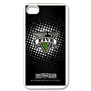 iPhone 4,4S Phone Case White Grand Theft Auto 5 V9950135