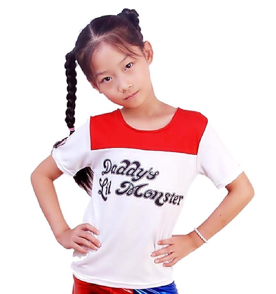 Inception Pro Infinite Talla S (4-5 años) Camiseta de Punto Camiseta para niña  Harley Quinn Daddy S Lil Monster Accesorios Disfraz Moda Carnaval Cosplay  ... 7da656c0ed7b