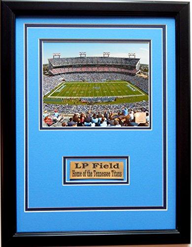 NFL Tennessee Titans LP Field Picture Frame, Medium, Black