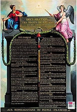 BOUCHUT Poster p/édagogique Droits de lHomme 52 x 76 cm