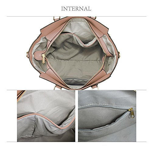 TrendStar - Bolso de tela para mujer Nude Handbag