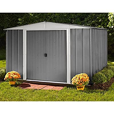 Arrow Euro Hamlet 9 x 10 ft. Storage Shed with Anchor Kit