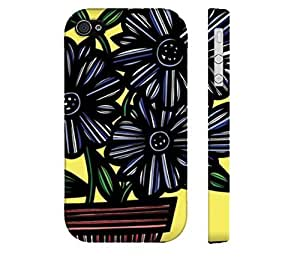 Specialdiy Cobetto Yellow Blue Black iphone 5c Apple cell phone case cover Flowers Botanical du3k46Kp9y9